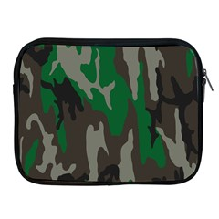 Army Green Camouflage Apple Ipad 2/3/4 Zipper Cases