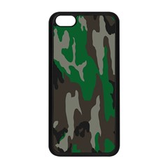Army Green Camouflage Apple Iphone 5c Seamless Case (black)