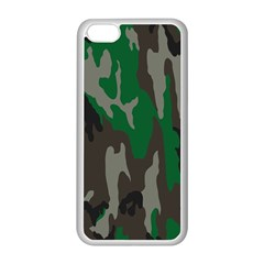 Army Green Camouflage Apple Iphone 5c Seamless Case (white)
