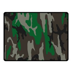 Army Green Camouflage Double Sided Fleece Blanket (small)  by BangZart