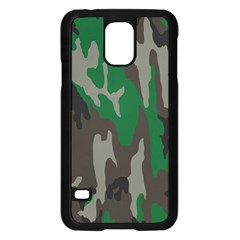 Army Green Camouflage Samsung Galaxy S5 Case (black) by BangZart