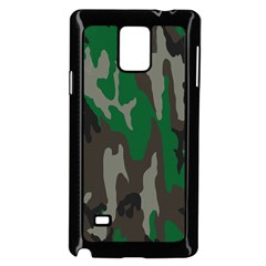 Army Green Camouflage Samsung Galaxy Note 4 Case (black)