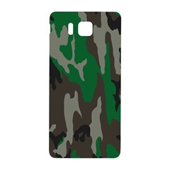 Army Green Camouflage Samsung Galaxy Alpha Hardshell Back Case by BangZart