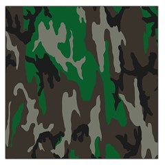 Army Green Camouflage Large Satin Scarf (square)