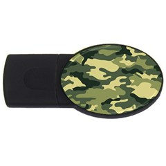 Camouflage Camo Pattern Usb Flash Drive Oval (4 Gb) by BangZart