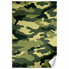 Camouflage Camo Pattern Canvas 24  X 36  by BangZart