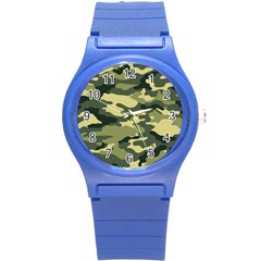 Camouflage Camo Pattern Round Plastic Sport Watch (s) by BangZart