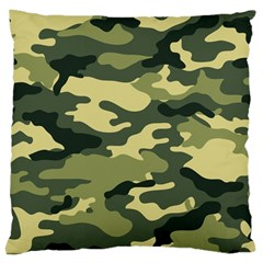 Camouflage Camo Pattern Large Cushion Case (two Sides)