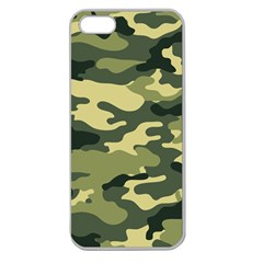 Camouflage Camo Pattern Apple Seamless Iphone 5 Case (clear)