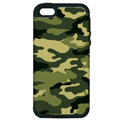 Camouflage Camo Pattern Apple Iphone 5 Hardshell Case (pc+silicone) by BangZart