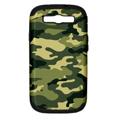 Camouflage Camo Pattern Samsung Galaxy S Iii Hardshell Case (pc+silicone) by BangZart