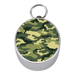 Camouflage Camo Pattern Mini Silver Compasses by BangZart