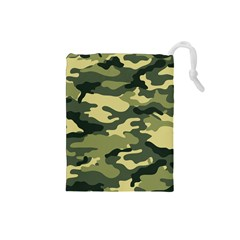 Camouflage Camo Pattern Drawstring Pouches (small)  by BangZart