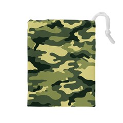 Camouflage Camo Pattern Drawstring Pouches (large)  by BangZart