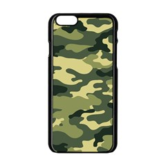 Camouflage Camo Pattern Apple Iphone 6/6s Black Enamel Case by BangZart