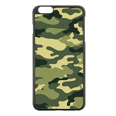Camouflage Camo Pattern Apple Iphone 6 Plus/6s Plus Black Enamel Case