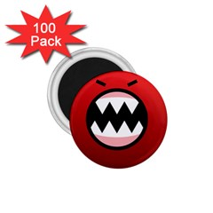 Funny Angry 1 75  Magnets (100 Pack)  by BangZart