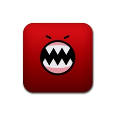 Funny Angry Rubber Square Coaster (4 Pack)  by BangZart