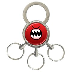Funny Angry 3 Ring Key Chains by BangZart
