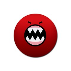 Funny Angry Rubber Coaster (round)  by BangZart