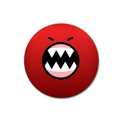 Funny Angry Magnet 3  (round)