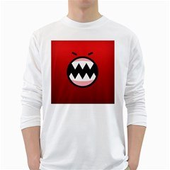 Funny Angry White Long Sleeve T Shirts