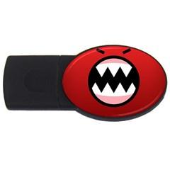 Funny Angry Usb Flash Drive Oval (4 Gb)