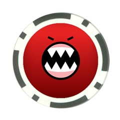Funny Angry Poker Chip Card Guard (10 Pack)