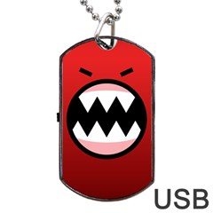 Funny Angry Dog Tag Usb Flash (two Sides) by BangZart