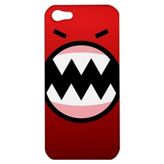 Funny Angry Apple Iphone 5 Hardshell Case by BangZart