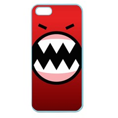Funny Angry Apple Seamless Iphone 5 Case (color)