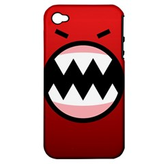 Funny Angry Apple Iphone 4/4s Hardshell Case (pc+silicone) by BangZart