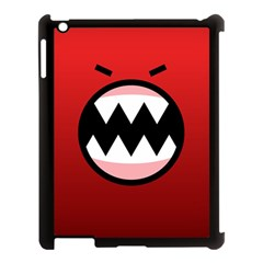 Funny Angry Apple Ipad 3/4 Case (black) by BangZart