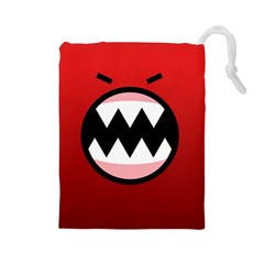 Funny Angry Drawstring Pouches (large)  by BangZart