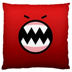 Funny Angry Large Flano Cushion Case (two Sides)