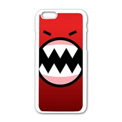 Funny Angry Apple Iphone 6/6s White Enamel Case by BangZart