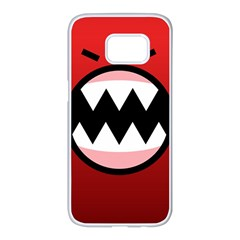 Funny Angry Samsung Galaxy S7 Edge White Seamless Case by BangZart
