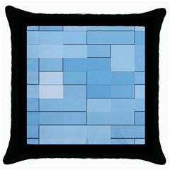 Blue Squares Iphone 5 Wallpaper Throw Pillow Case (black)