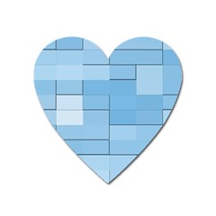 Blue Squares Iphone 5 Wallpaper Heart Magnet by BangZart