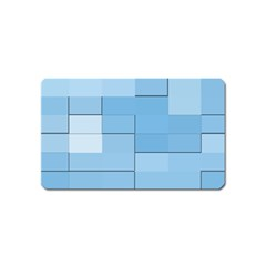 Blue Squares Iphone 5 Wallpaper Magnet (name Card) by BangZart