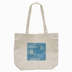 Blue Squares Iphone 5 Wallpaper Tote Bag (cream) by BangZart