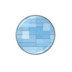 Blue Squares Iphone 5 Wallpaper Hat Clip Ball Marker (4 Pack) by BangZart