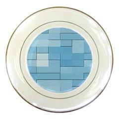 Blue Squares Iphone 5 Wallpaper Porcelain Plates