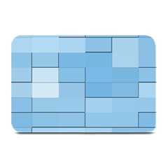 Blue Squares Iphone 5 Wallpaper Plate Mats