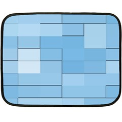 Blue Squares Iphone 5 Wallpaper Fleece Blanket (mini) by BangZart
