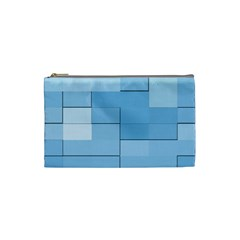 Blue Squares Iphone 5 Wallpaper Cosmetic Bag (small)