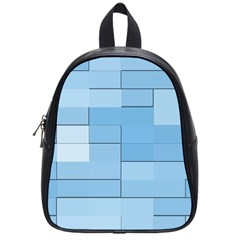 Blue Squares Iphone 5 Wallpaper School Bags (small)  by BangZart