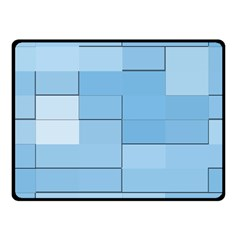 Blue Squares Iphone 5 Wallpaper Fleece Blanket (small) by BangZart