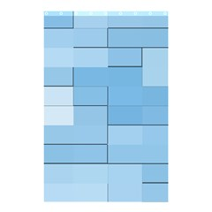 Blue Squares Iphone 5 Wallpaper Shower Curtain 48  X 72  (small)  by BangZart