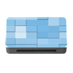 Blue Squares Iphone 5 Wallpaper Memory Card Reader With Cf